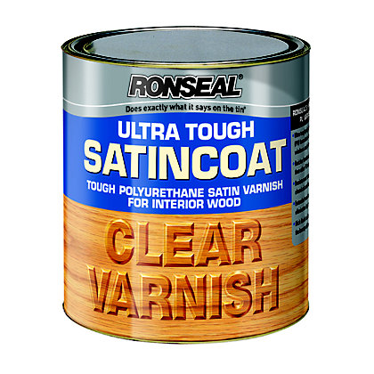 Image for Ronseal UltraTough Satin Coat Clear Varnish - 250ml from StoreName