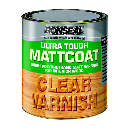Image for Ronseal  UltraTough Matt Coat Clear Varnish - 250ml from StoreName