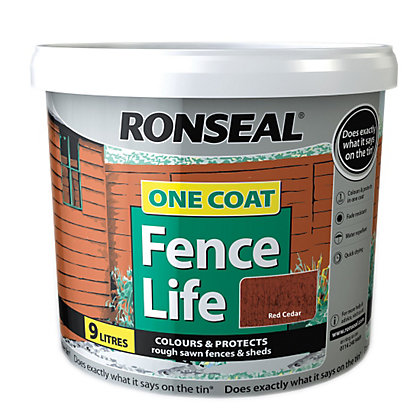 Ronseal One Coat Fence Life Red Cedar 9l