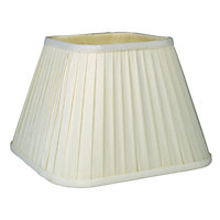 Square Knife Pleat Shade - Cream - 30cm