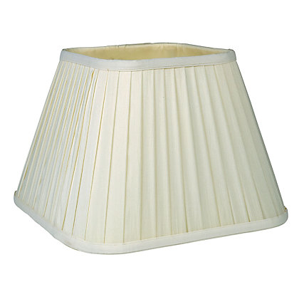 Image for Square Knife Pleat Shade - Cream - 30cm from StoreName