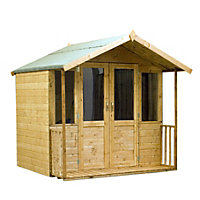 Mercia Brighton Golden Brown Summerhouse and Veranda - 6ft 11in x 6ft 4in