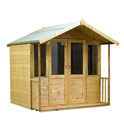 Image for Mercia Brighton Golden Brown Summerhouse and Veranda - 6ft 11in x 6ft 4in from StoreName