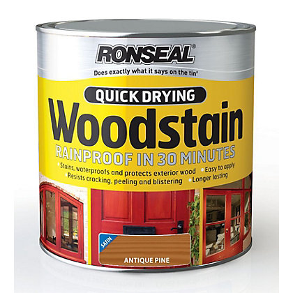 Image for Ronseal Quick Drying Woodstain Satin Antique Pine - 2.5L from StoreName