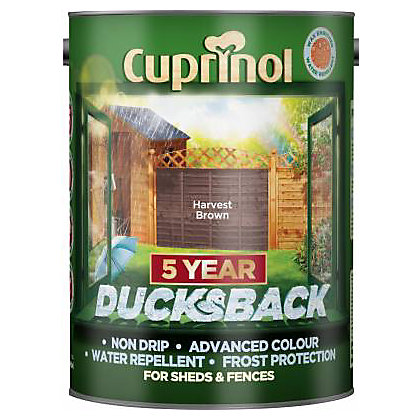 Image for Cuprinol Ducksback Timbercare - Harvest Brown - 5L from StoreName