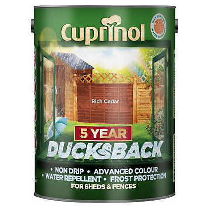 Image for Cuprinol Ducksback Timbercare - Rich Cedar - 5L from StoreName