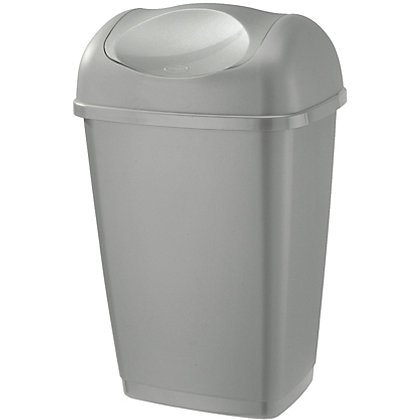 Image for Swing and Lift Bin - 25L - Silver from StoreName