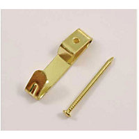 Small Picture Hook - Brass - 8 Pack