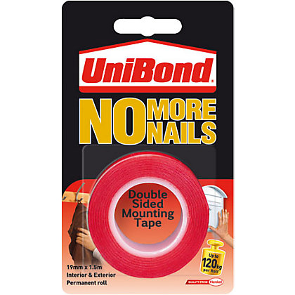 Image for Unibond No More Nails on a Roll Exterior - Translucent - 19mm x 1.5m from StoreName