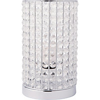 Marcie Beaded Table Lamp - Chrome - 22cm