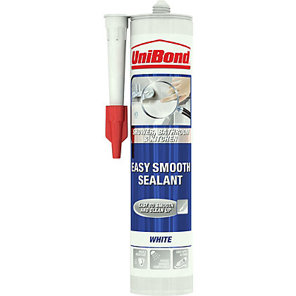 Image for UniBond Kitchen and Bathroom Easy Smooth Sealant - White - 300ml from StoreName