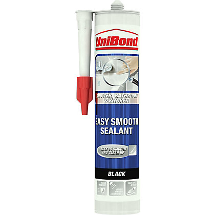 Image for UniBond Kitchen and Bathroom Easy Smooth Sealant - Black - 300ml from StoreName