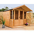 Mercia Brighton Golden Brown Summerhouse and Veranda - 6ft 11in x 8ft 4in