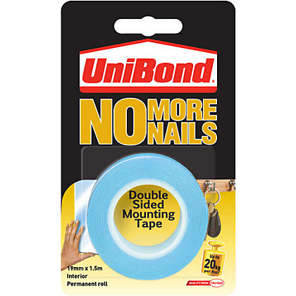 Image for Unibond No More Nails on a Roll Interior - Translucent - 19mm x 1.5m from StoreName