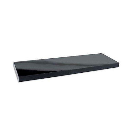Image for Duraline Black High Gloss Floating Shelf - 60cm from StoreName