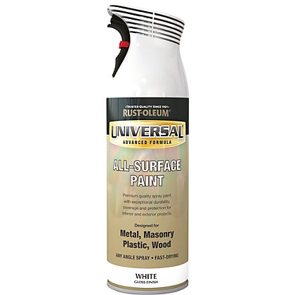 Image for Rust-Oleum Universal Gloss Spray Paint - White - 400ml from StoreName