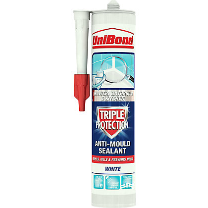 Image for UniBond Triple Protection Sealant - White - 300ml from StoreName