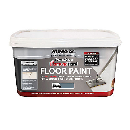 Image for Ronseal Slate - Perfect Finish Diamond Hard Floor Paint - 2.5L from StoreName