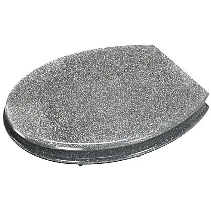 Image for Silver Glitter Toilet Seat from StoreName