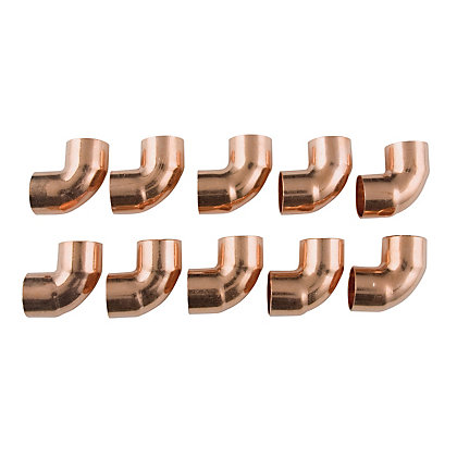 Image for End Feed 90 Degree Bend Fitting - Copper - 15mm - 10 Pack from StoreName