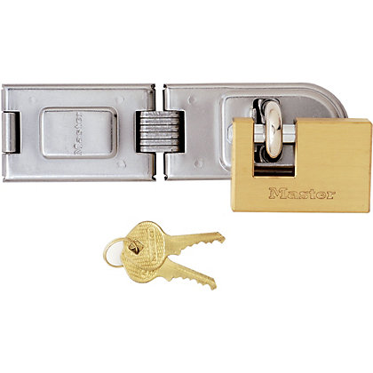 Image for Master Lock Rectangular Padlock and Hasp Set - 63mm from StoreName