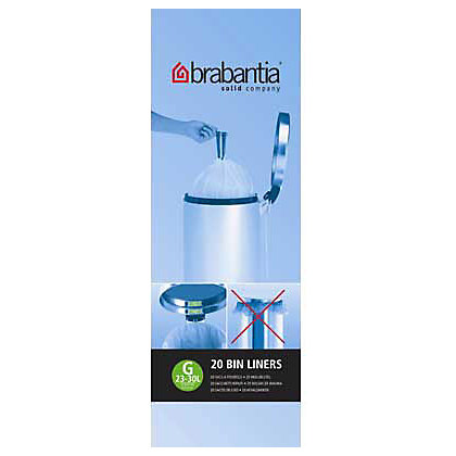 Image for Brabantia Bin Liners - 30L - 20 Pack - White from StoreName