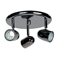 Phoenix 3 Light Plate Spotlight - Black