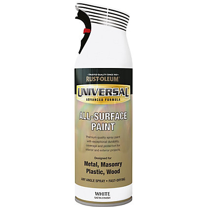 Image for Rust-Oleum Universal Satin Spray Paint - White - 400ml from StoreName