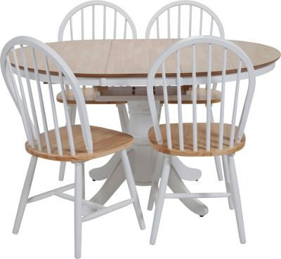 Kentucky Two Tone Extending Dining Table and 6 chairs