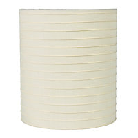 Pleated Cylinder Lampshade - Cream - 19cm