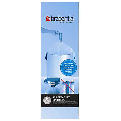 Image for Brabantia Bin Liners - 50L and 60L - 10 Pack - White from StoreName