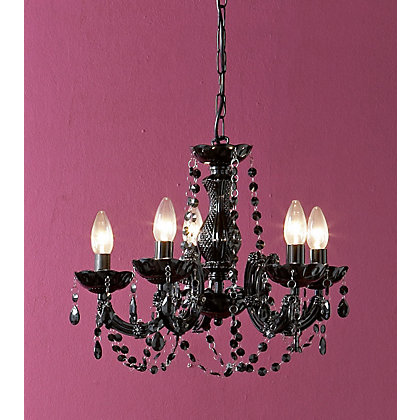 Image for Marie Therese 5 Light Black Chandelier from StoreName