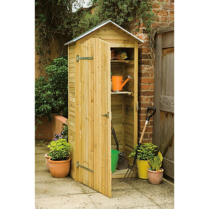 Forest tall garden tool store for Garden shed homebase