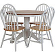 Kentucky Two Tone Fixed Top Table and 4 chairs