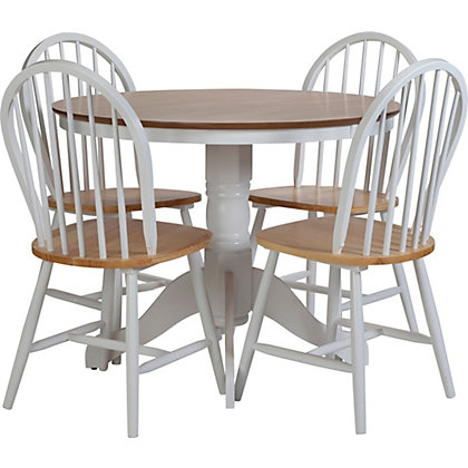 Image for Kentucky Two Tone Fixed Top Table and 4 chairs from StoreName