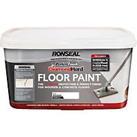 Ronseal White - Perfect Finish Diamond Hard Floor Paint - 2.5L