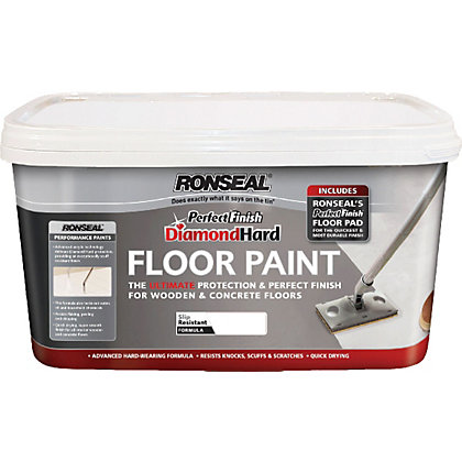 Image for Ronseal White - Perfect Finish Diamond Hard Floor Paint - 2.5L from StoreName
