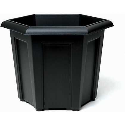 Image for Regency Hexagonal Planter - Black from StoreName
