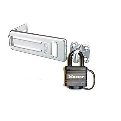 Image for Master Lock Weatherproof Padlock and Hasp - 124mm from StoreName