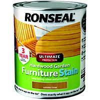 Ronseal Hardwood Garden Furniture Stain Natural - 750ml