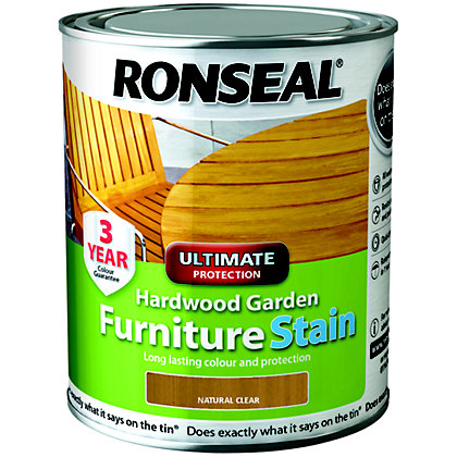 Image for Ronseal Hardwood Garden Furniture Stain Natural - 750ml from StoreName