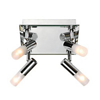 Milano 4 Plate Spotlight - Chrome