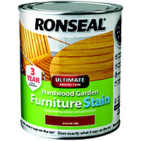 Ronseal Hardwood Garden Furniture Stain English Oak - 750ml