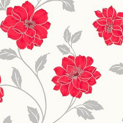 Image for Feature Wall Camilla Wallpaper - Red from StoreName