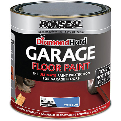 Image for Ronseal Diamond Hard Steel Blue - Garage Floor Paint - 5L from StoreName