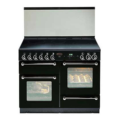 Image for Rangemaster 62350 110 Electric Ceramic Cooker - Black & Chrome from StoreName