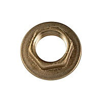 Brass Back Nut - 13mm