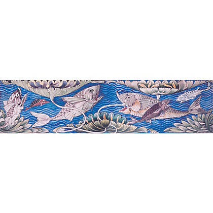 Image for V&A William De Morgan Fish Panel Pack of 4 Tiles - 152 x 152mm - 4 pack from StoreName