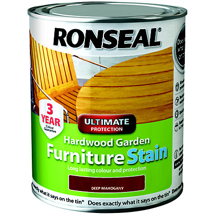Image for Ronseal Hardwood Garden Furniture Stain Deep Mahogany - 750ml from StoreName