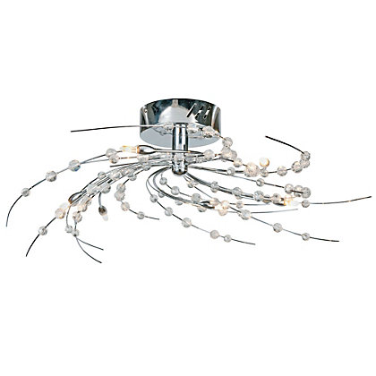Image for Snowdrop Beaded 6 Light Fitting - Chrome from StoreName